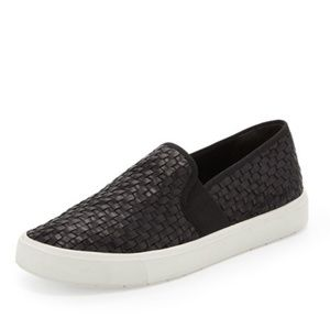 Vince Peeston Woven Leather Slip On Sneakers